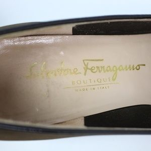 Salvatore Ferragamo Shoes - Salvatore Ferragamo brown suede loafers square toe